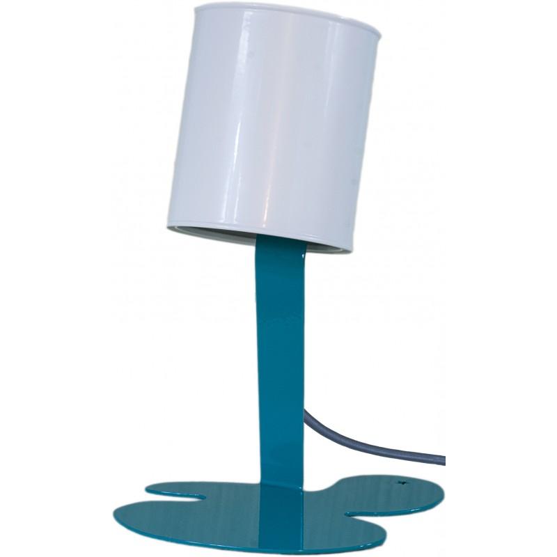 lampe pot de peinture orange turquoise gris blanc. Black Bedroom Furniture Sets. Home Design Ideas